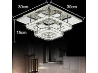 30cm 36W LED Crystal Ceiling lights chandeliers Bilayer Aisle lights