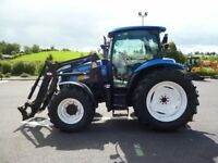2006 New Holland TS100A & FL 100 loader, 4235 hours, Dual Command