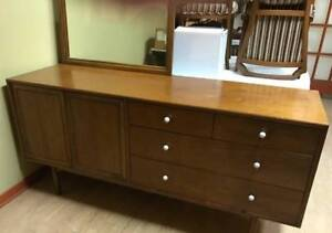 SIX PIECE WALNUT BEDROOM SET