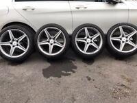 Mercedes w205 18 amg alloys with Bridgestone tires c220 c250 a class e