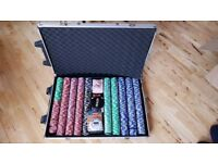 1000 piece clay weighted poker chips set