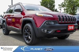2016 Jeep Cherokee Trailhawk|BACKUP CAM|BLUETOOTH|ALLOYS|KEYLESS