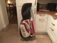 Golf clubs- Driver, 3 Wood, full set of matching Irons (3-SW) putter-superb golf bag-glove-balls etc