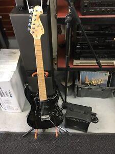Guitare  électrique débutant kirk hammet avec ampli