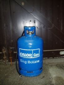 CALOR GAS 15Kg BOTTLE 2/3 FULL BUTANE. I LIFT IT INTO YOUR CAR BOOT (BH6 3ER)