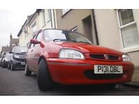 Rover114 , one owner, low mileage, long MOT.