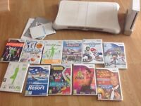 Wii fit bundle with board, games and accessories