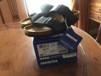 Brand new Birkenstock Arizona sandals in black - size 38.