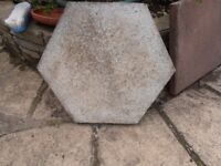 2 slabs for standing plant pots on.