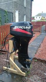 MERCURY 40hp longshaft outboard power trim tilt electric start oil injected in very good condition