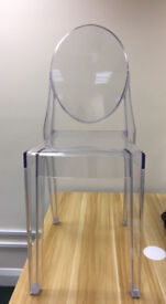Replica Clear Ghost Chairs with minor marks (7 available - buy in multiples or singles for £35 each)