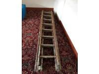 Extendable wooden ladders