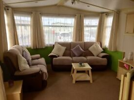 CHEAP DOUBLE GLAZED AND CENTRALLY HEATED STATIC CARAVAN FOR SALE. SEA VIEW PARK. STUNNING VIEWS