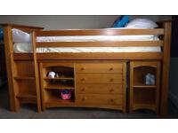 3'0″ Single Pine Cabin Bed