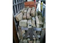 stone coursed building a crate full facing mixed sand blue etc
