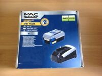 New Mac allister 36 volt 2.6ah lithium battery and charger