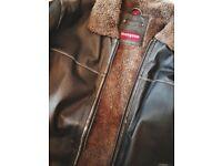 Mens Leather Mangoon Jacket