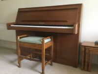 Upright piano + stool free to good home