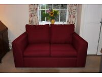 John Lewis Jacob Two Seater Sofa in Cranberry