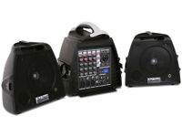 140W Portable PA system with built in MP3 player