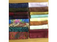 Assorted Collection of Men's Pure Silk Handkerchiefs