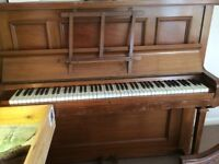 Piano, upright, made by Lambert of London, free to anyone who will collect due to moving home