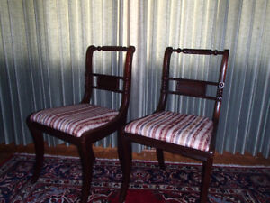 Vintage Regency Dining Chairs – Set of 4