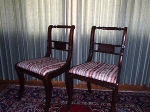 Vintage Regency Dining Chairs – Set of 4