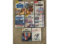 Sega Master System 10 game bundle, all missing manuals (Individual game sales considered)
