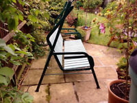 Garden swing seat, well used, but in good working condition