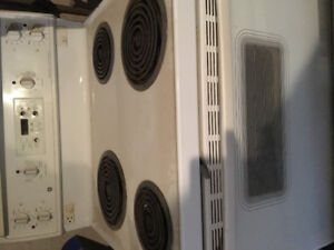 White GE Self cleaning oven for sale