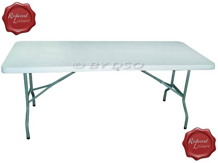 redwood leisure 1.82m heavy duty folding table | in neath, neath