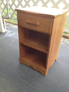 Maple wood bedside table