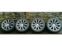 "GENUINE AUDI Q7 ALLOY WHEELS 20"" WITH TYRES £700"