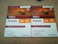 WJEC Geography AS Unit G1 and G2 - good condition