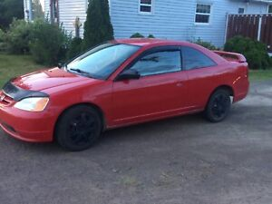2002 sporty Honda Civic coupe
