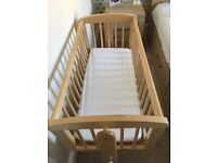 Baby crib and mattress for sale