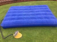 Air Bed (Double) and Foot Pump