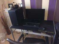 Full gaming pc Monitor and desk chair