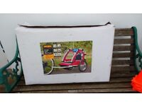 Child's single bike trailer Halfords in box used once