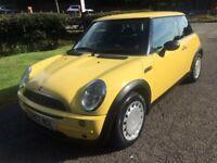 2002 Mini One 12 months mot good condition good history Registartion plate worth £500