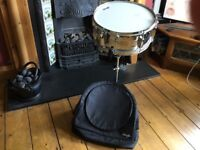 STAGG snare drum with stand and case ideal for beginner excellent condition hardly used