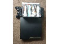 160gb slim ps3 with games