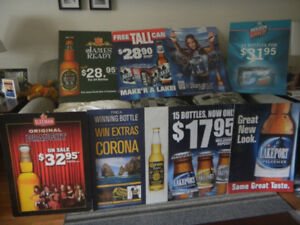 8 Large Beer Posters
