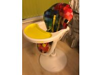 Cosatto 3 sixth high chair multi coloured great condition