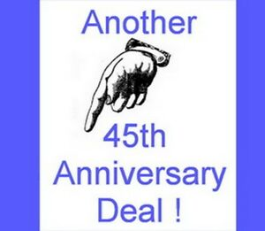 Another 45th Anniversary Deal at Rainbow Music Shop