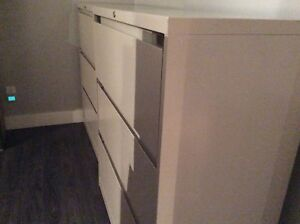 2 lateral file cabinets