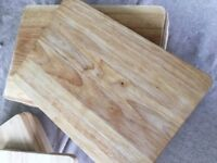 12 wooden chopping/serving/cheese boards