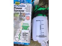 5l portable power sprayer almost BNIB