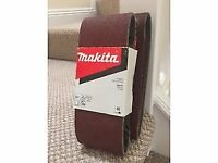Makita P-36887 4in Sanding Belts 100 x 610mm 5 Pack 40 Grit (x2)